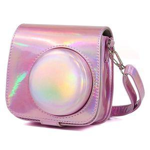 Aurora Yağ FUJIFILM INSTAX mini Askı Tüm Vücut Kamera PU Deri Kılıf Bag Boya 9 / mini 8+ / mini 8