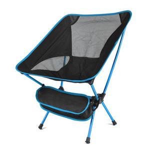 Gezi Ultralight Katlanır Sandalye Superhard Yüksek Yük Açık Kamp Sandalye Taşınabilir Plaj Yürüyüş Piknik Koltuk Tahlisiyeler Sandalye