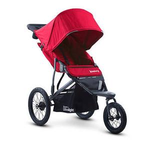Lüks Çok Fonksiyonlu Bebek Arabası Taşınabilir Yüksek Peyzaj Kırmızı Siyah Arabası Katlama Yenidoğan Bebek Üç Büyük Tekerlek