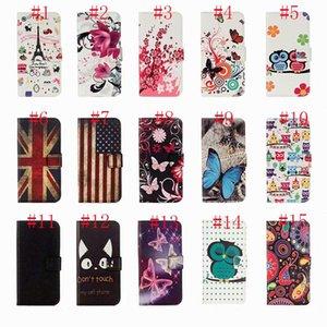 Flor carteira de cartão de ID de couro PU Fique borboleta da coruja Flag UK Litchi Case for P40 LITE E 5G Y5P Y6P Y7P P SMART 2020 P30 MATE30 LITE honra 9X