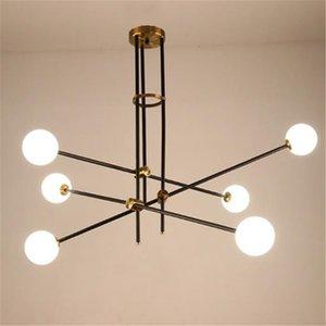 Moderne weiße Glas-LED-Rohr Metall Aufstellungs Kronleuchter Wohnzimmer Esszimmer Schlafzimmer hängende Beleuchtung Dekor-Befestigungs-PA0340