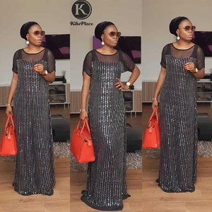 African dresses for women Kaftan maxi dress dashiki bubu gowns for party plus size fashion Sequins