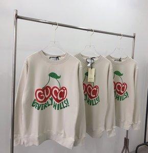 20ss Neue luxuriöse Marke GC Designer Kirsche drucken Pullover Jacke Damen Herren Mantel-beiläufige Jumper Sweatshirts Street Outdoor-Hoodies 7,7