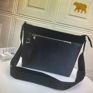 N40003 MICK PM petits hommes Messenger Bag Business Casual Sac bandoulière Mode Damier Graphite toile noir classique Sacs à bandoulière en cuir homme