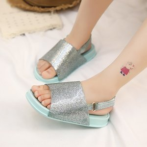 New casual boy girl single shoes flash powder sequins soft bottom Sandals and Slippers baby slippers sandals
