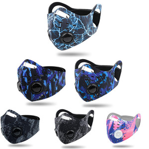 2020 Biking-Antistaub-Bike Face Mask Aktivkohle Reiten Radfahren Radfahren Laufen Anti-Pollution Bike Isolation Maske mit OPP-Filter