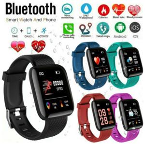 116Plus Smart Watch Armband-Mann-Blutdruck Fitness Tracker Herzfrequenzmesser Pedometer Erinnerung Smartwatch für Android IOS