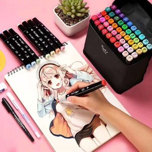 Mark Water pen three generations double head 48 color suit student design hand painting art animation watercolor pen