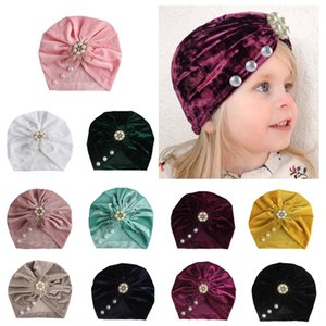 New gold velvet Pullover cap cap sticky beads children's Indian male and female baby pullover hat baby hat 11 colors