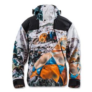 TOP 20FW nieve Mountain Camp Nuptse chaqueta con capucha capa de los hombres de alta Calle Mujeres Moda al aire libre a prueba de viento chaqueta Outwear HFYMJK330