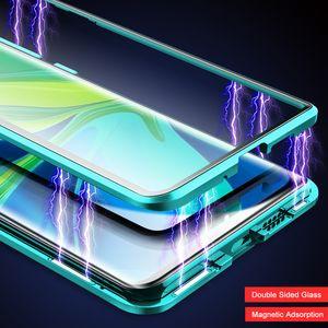 Magnétique verre Mi 10 5G 9 9S 9PRO métal pare-chocs pour redmi K30 K20 Note 8 Pro 8T Xiaomi 9T Phone Case