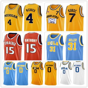 Ncaa Michigan College Wolverines Jason Chris Williams Webber Jersey Jugoplastika Toni 7 Kukoc Trikots Deaaron Marvin Fox Bagley Jersey