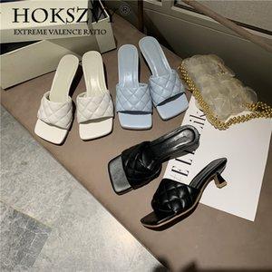 hoksvzy 2020 Early Spring Pão sandálias Feminino Outer Wear praça aberta Toe High Heel Slippers ZML