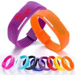 Custom Bracelet Led Unisex Waterproof Plastic Stainless Steel Watch