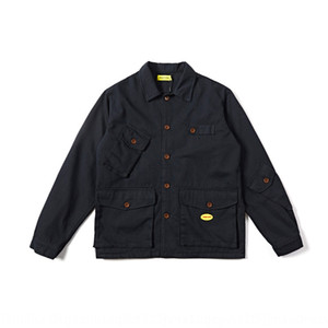 VR2MI Xinchen 2019 outono multi-bolso estilo coreano casuais lapela fina Xinchen 2019 outono Macacões jacketjacket multi-bolso macacão jaqueta