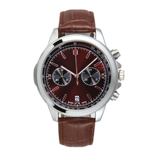 Nouveautés Montres design mens chronographe B01 orologio di lusso mens mouvement japonais Montres-bracelets masculins de cuir Montré