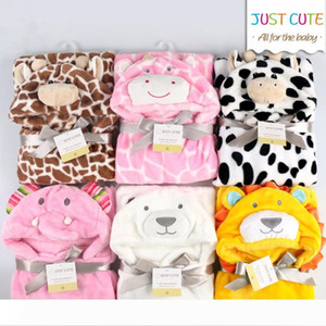 10pcs! 3D cartoon Soft Baby Blankets 76cm*92cm 0-6 years old Kids fllannel Blanket children bath towel cute animal shape baby cloak