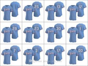 TexasRangers #29 Adrian Beltre 12 Rougned Odor 13 Joey Gallo Men Women Youth Custom Light Blue Authentic 2020 Alternate Jersey