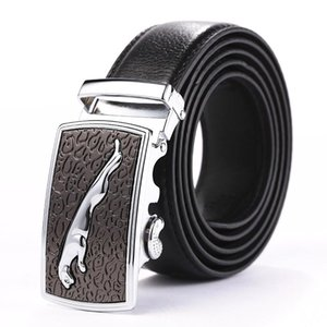 [LFMB] Herren Leopard Gürtel Luxuxmann Ledergürtel Arbeiten Sie echtes Leder Schnalle an der Taille der Qualitäts-Male Metallschnalle