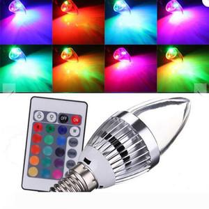 RGB Led Candle Lights E12 E14 3W Led Bulbs Lights 16 Colors Change + 24keys IR Remote Controller