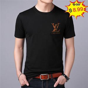 Nuovo PP Mens camicia Designer di moda di lusso armour̴under magliette estate Hermes punk del cranio del Rhinestone T-shirt maschio superiore