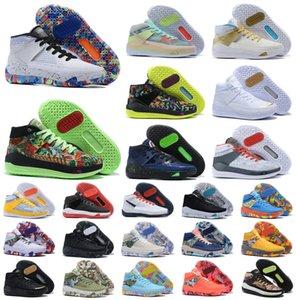 Новые 2020 Дюрант XIII KD 13 13S Mens Multi-Color KD13 Кроссовки Увеличить Баскетбол обувь Elite Sport Кроссовки США 7-12