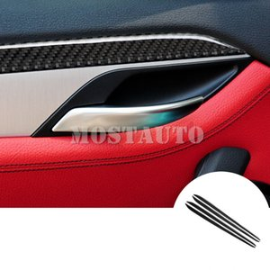 For BMW X1 E84 Carbon Fiber Car Door Panel Moulding Trim Cover 2010-2015 4pcs