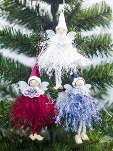 Adorno de navidad lindo que cuelga Angel Doll Colgante árbol de Navidad decoración para el partido decoración del hogar de niños y regalo Rqc8 #