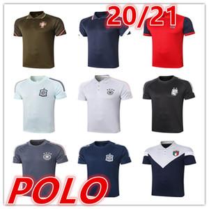 2020 2021 neues Spanien Herren-T-Shirts Polo-Fußball-Jersey-20 21 Männer Fußball Polo Fußball-Uniform-Sport-Hemd-Polo-Shirts Fußball-Trikots