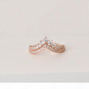 I Princess Wish Wedding Ring 100 %Sterling Silver Rose Gold Plated High Quality Cz Diamond Original Box Set For Pandora Women &#039 ;S