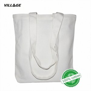 VILLGE 높은 품질 여성 남성 핸드백 캔버스 토트 백 재사용면 식료품 쇼핑 가방 인터넷 쇼핑몰 에코 접이식 쇼핑 카트에 담기 mQ9Z #