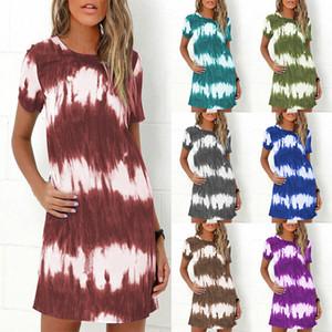 Moda çok renkli kadınların seksi kıyafetler Artı boyutu Batik Elbiseler Yüksek Kaliteli bayan giyim kadın elbiseleri uzun