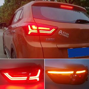 2adet Otomobil için LED Arka Lamba için Hyundai ix25 Creta 2016 2017 2018 Kuyruk Işıklar Sis Lambaları Gündüz Işıklar DRL Tuning Car Aksesuarları Koşu