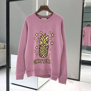 고품질 파인애플 디자이너 까마귀 스웨터 긴 소매 셔츠 후드 가을 봄 여성 명품 의류 인쇄 된 문자 스웨터 S-L