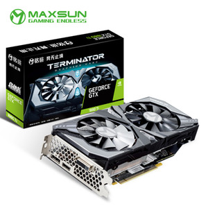 Maxsun GeForce GTX 1660 Ti 6G Grafikkarte Nvidia GPU GDDR6 Gaming Video Video für PC