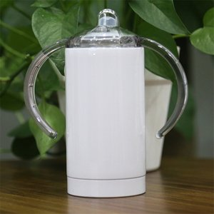 12OZ التسامي كيد البهلوان الفولاذ المقاوم للصدأ كأس سيبي مع مقابض فراغ البيرة القدح جدار مزدوج معزول القدح القهوة الحليب زجاجة A03