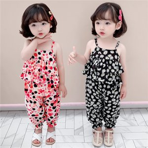 Girls' summer Sling Suit clothes girls' floral sling suit 2020 new children's summer Western style clothes two-piece set