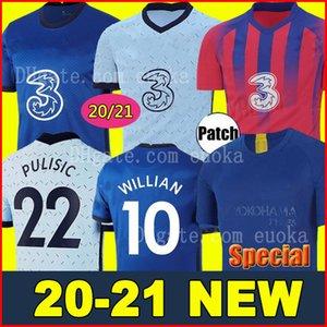 태국 PULISIC KANTE 아브라함 MOUNT 램파드 축구 유니폼 2020 2021 Camiseta 드 축구 키트 셔츠 (20) (21 개) MEN KIDS 세트