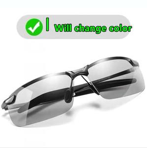 Nova Descoloração alta tecnologia de lente de cor variável óculos de sol da moda óculos de sol óculos de topo sol qualidade para o homem polarizado UV400 lentes