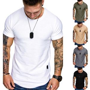 Herren-T-Shirts Sommer-Kurzschluss-Hülsen-beiläufige Oberseiten der Mode-Männer V-Ausschnitt, Fitness-Sport-T-Shirts 2XL