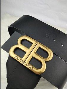 tendencia de la moda de la última alta calidad del estilo 7CM carta ancho cinturón de cuero hebilla de metal de alta calidad de estilo de mayor venta