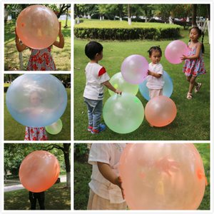 Free Shipping Big Light Ball Bubble Ball Blowing Balloon TPR Mouth Blowing Air Ball Inflatable Water Polo Toy Children Adult Beach Party Toy