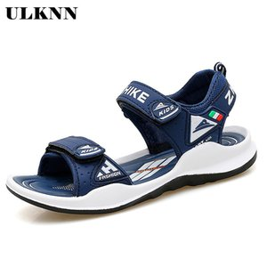 ULKNN Summer Boys Sandals For Kids Shoes Beach Children Sandals Girls Shoes Close-Toe Breathable Cut-outs School sandalias CX200711