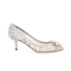 Neue Luxus Bling Kristall Blume 6 cm Stiletto Kätzchen High Heels Diamant Sexy Spitze Pumps Schwarz Rot Weiß Beiges Blau Party Hochzeit Schuhe Braut