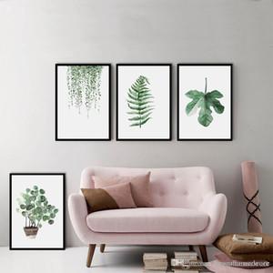 Hotel Sofá Decoração Wall Empate Planta Verde Digital Pintura Moderna Decorado retrato emoldurado pintura Moda Arte pintada BC BH1496-1