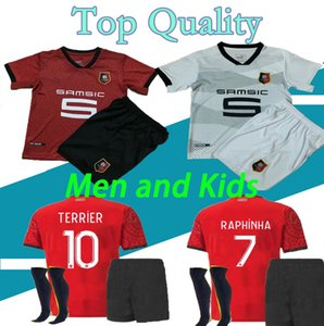 16-XXL Adult kids 20 21 Rennes soccer jersey 2020 2021 Raphinha Niang Terrier J. MARTIN Stade Rennais BOURIGEAUD home away football shirt