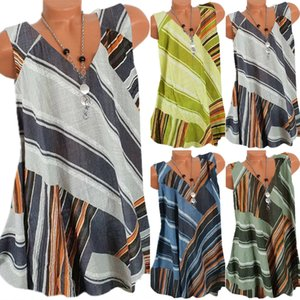 WJBiS 2020 Women's New striped fashion all-match sleeveless women 2020 Women's New striped fashion T-shirt all-match sleeveless T-shirt wome