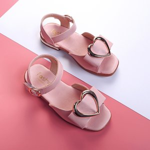 2020 new girls' Korean casual student Oxy bottom open toe princess shoes and sandals children's sandals