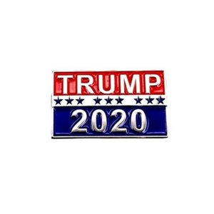 new 2020 TRUMP Badge Coupon Star Admission Tickets Cool Poker Brooch Coat Jackets Backpack Lapel badge Pins Movie part favor T2C5051-1