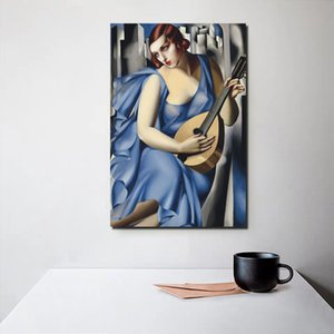 인쇄 포스터 거실 Cuadros 프레임 그림 벽 예술 모듈 타마라 드 렘피카 캔버스 그림 음악 여성 홈 인테리어 레트로